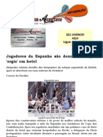 Jogadores da Espanha são denunciados por 'orgia' em hotel