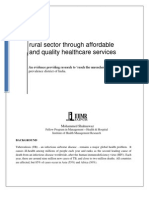 rural sector through affordable and quality healthcare services