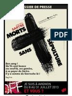 Dossier de Presse Morts sans sépulture Avignon OFF 2013