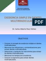 Exodoncia en Dientes Multirradiculares-Dr Paco
