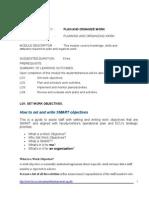 Plan and Organize Work