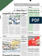 2004.01.01 - Estradas matam oito no último dia do ano - Estado de Minas