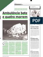 2004.03.30 - Ambulância bate e quatro morrem - Estado de Minas