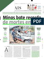 2004.10.13 - Minas Bate Recorde de Mortes Em BRs - Estado de Minas