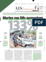 2004.10.13 - Mortes Nas BRs Aumentam - Estado de Minas