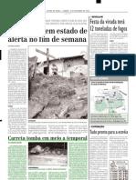 2004.12.06 - Carreta Tomba Em Meio a Temporal - Estado de Minas