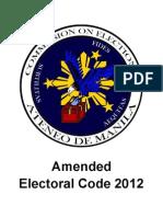 Amended Electoral Code 2012