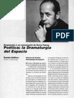 Poetica La Dramaturgia Del Espacio