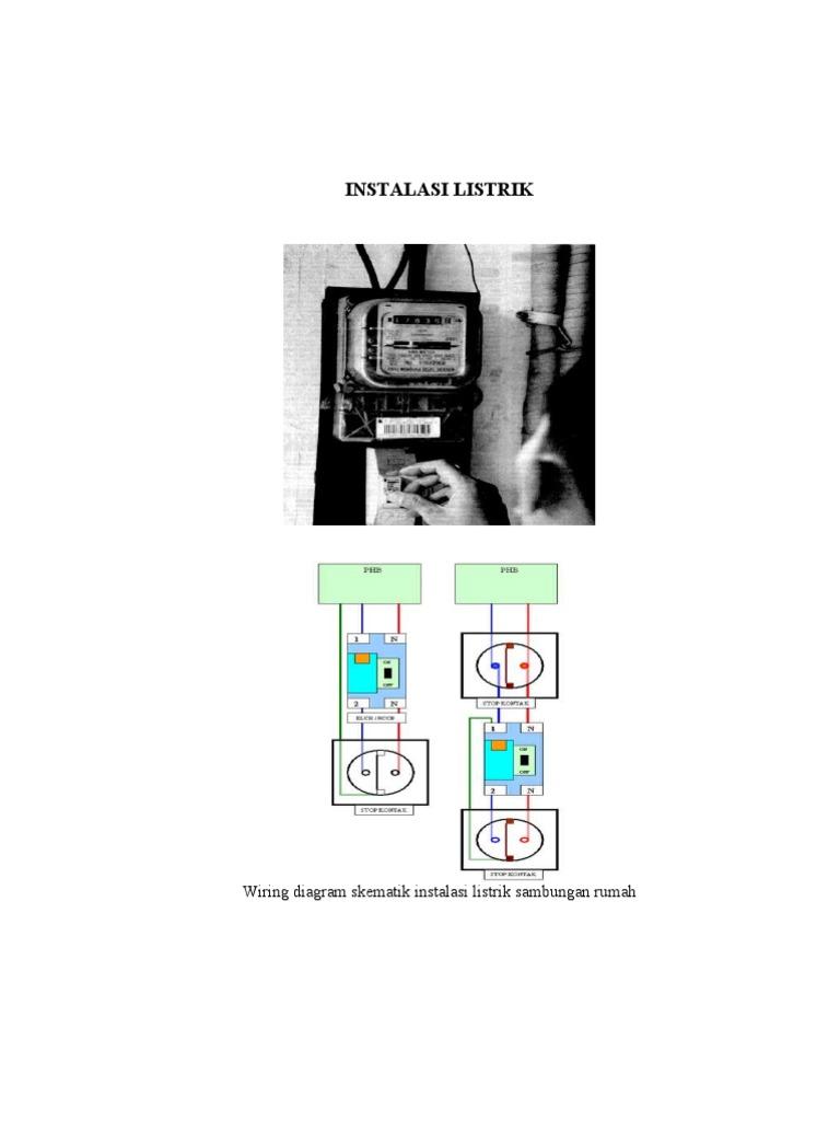 Wiring Diagram Skematik Instalasi Listrik Sambungan Rumah on