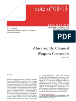 Africa and the Chemical Weapons Convention