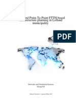 PON and Point-To-Point FTTH based infrastructure planning in Lolland municipality
