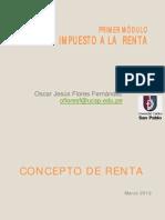 Concepto de Renta- Derecho Tributario 2