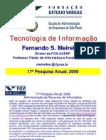 Pesquisa Da FGV SP Sobre o CAPT 2006