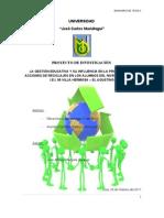 Proyecto de Investigacion Reciclaje Ujcm