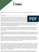 The New Macho - MKPI UK London Sunday Times Style Article - June 9, 2013