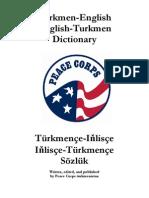 Turkmence-Ingilizce Ingilizce-Turkmence Dictionary Sozluk