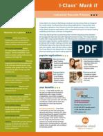 Datamax I-Class Mark II Industrial Barcode and Label Printer Brochure