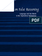 Aristotle on False Reasoning - Language and the World in the Sophistical Refutations (Suny Series in Ancient Greek Philosophy)