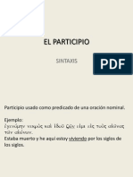 Participio e Infinitivo - Ejemplos
