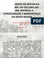 O SURGIMENTO DA REPÚBLICA BRASILEIRA