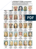 Most Wanted Property Crime Offenders June 2013