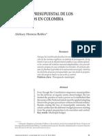 RÉGIMEN PRESUPUESTAL DE LOS MUNICIPIOS EN COLOMBIA