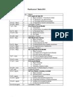 Planificación  Anual - Historia I Medio 2013
