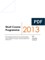 Short Course Programme