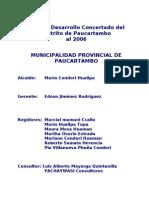PDC DISTRITAL PAUCARTAMBO