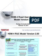 Road User Costs Model 20100218