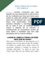 10 VERDADES ACERCA DE LA CAÍDA DEL CABELLO