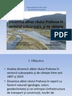 Dinamica albiei râului Prahova