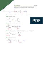 Transesterificación ácida de ésteres