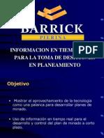Informacion en Tiempo Real Para La Toma de Desiciones en Planeamiento Minera Pierina Barrick