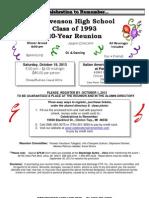 Stevenson Class of 1993 Reunion Invite PDF Version