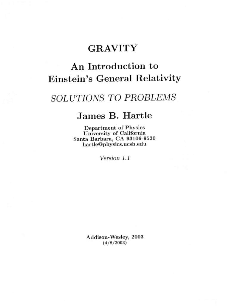 hartle solutions orbit theory of relativity rh es scribd com hartle gravity solutions manual Dana Hartle