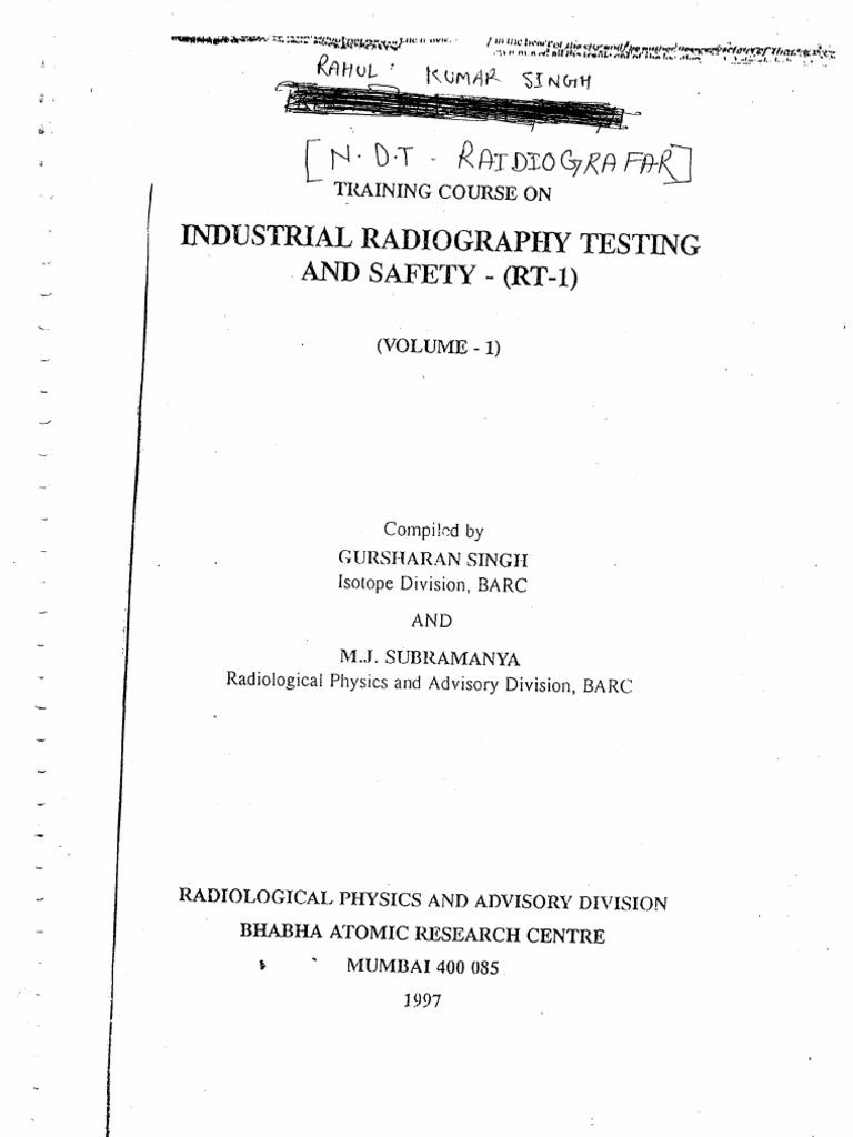 BARC RT LEVEL II PDF | Deformation (Engineering) | X Ray