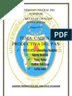 Cadena Productiva Del Pan en El Ecuador