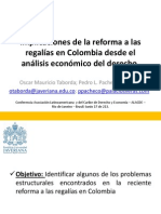 IMPLICACIONES DE LA REFORMA A LAS REGALÍAS EN COLOMBIA DESDE EL ANÁLISIS ECONÓMICO DEL DERECHO.