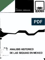 Analisis historico de las sequías en México