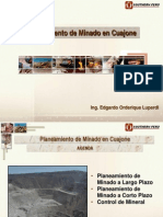 Planeamiento de Minado en Cuajone Souther Peru 2002