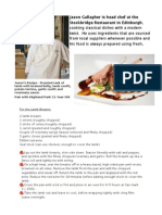 Jason Gallagher Lamb Recipe PDF