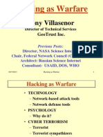 Hacking as Warfare - Tony Villasenor