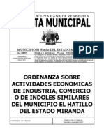 Ordenanza Actividades Económicas