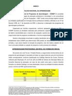 Anexo I - Portaria 723 - Catálogo Nacional da Aprendizagem Profissional - CONAP -atualizado em 28082012