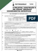 PROVA 47 - TÉCNICO DE PROJETOS CONSTRUÇÃO E MONTAGEM JÚNIOR - MECÂNICA.pdf