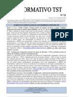 Informativo TST nº 051