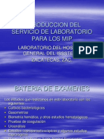 Introduccion Del Servicio de Laboratorio Para Los Mip Copia