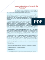 TEMA 3 . Azorin. Rasgos Modernistas en La Novela La Voluntad