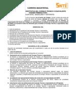 Modelo de Acta Carrera Magisterial